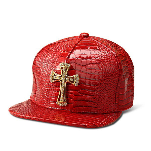 Style Pattern Panel Cross Snapback  Cap