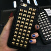 Dower Me 3D Soft TPU Cool Rock Punk Spikes Stud Rivet Phone Case Cover For Iphone 7