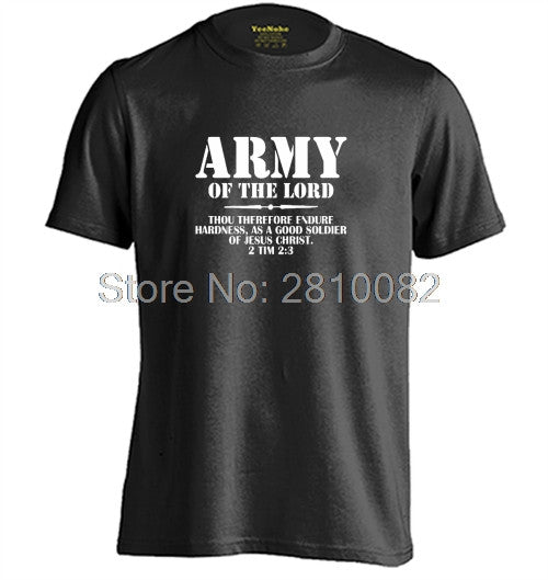 Christian Army Of The Lord 2 Timothy 23 Bible Lines Mens & Womens Printing T Shirt
