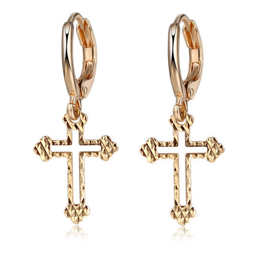 Jesus Christ Cross Pendant  Earring