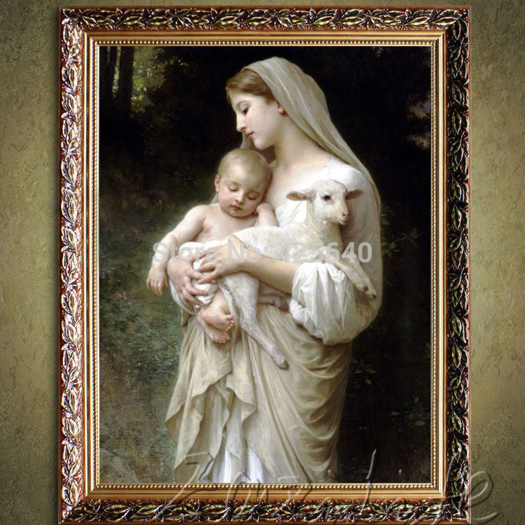 Home Decor Jesus Christ Virgin Mary Holding The Jesus  Art Decor Painting