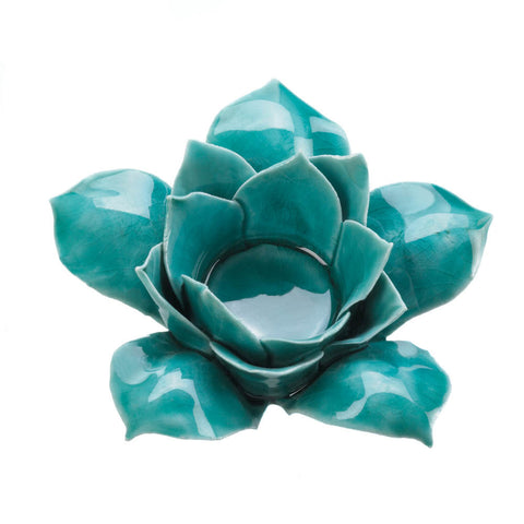 Blue Lotus Tealight Candle Holder