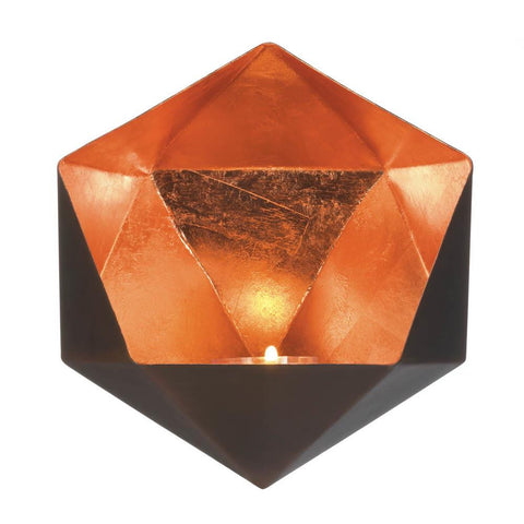Geometric Copper Wall Sconce