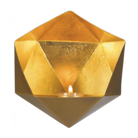 Geometric Gold Wall Sconce