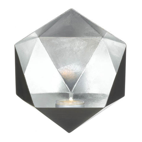 Geometric Silver Wall Sconce