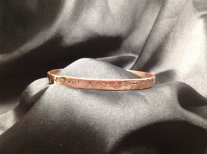 Copper stamped bracelet (custom)