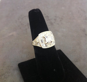 Custom designed gold diamond ring in Classic style (Sold)