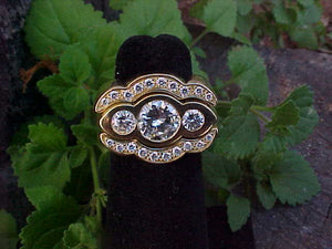 Diamond + 18K gold 3 ring set (Sold)