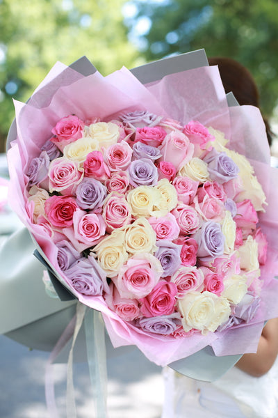 Six Dozen Assorted Roses - FlowerWrap
