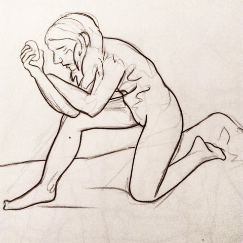 Lifedrawing Nude Woman Drawing