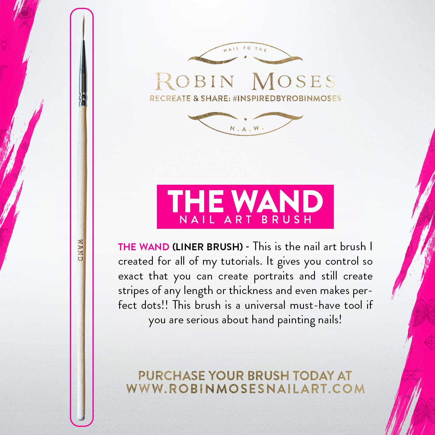 The Wand Nail Art Brush For Fine Lining By Robin Moses For Sale