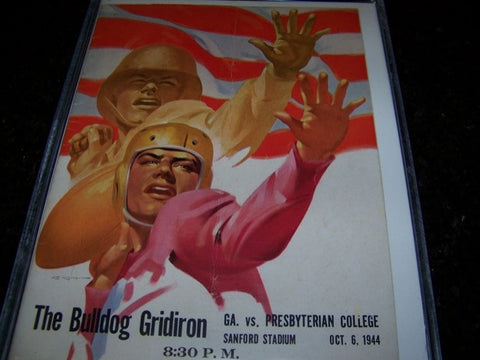 1944 Georgia Bulldogs Football Program vs. Presbyterian College