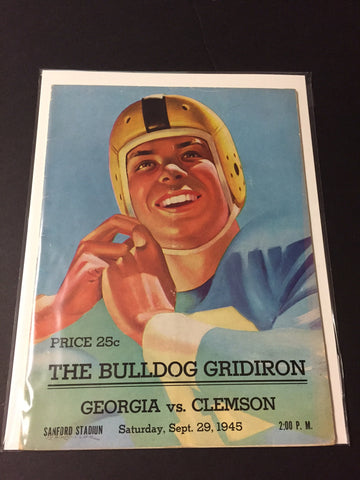 1945 Georgia Bulldogs Football Program vs. Clemson