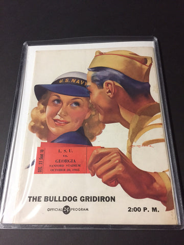 1945 Georgia Bulldogs Football Program vs. L.S.U.