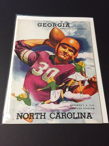 1948 Georgia Bulldogs Football Program vs. North Carolina