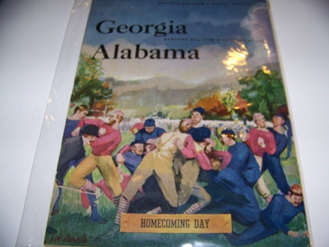1953 Georgia Bulldogs Football Program vs. Alabama