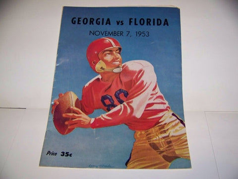 1953 Georgia Bulldogs Football Program vs. Florida