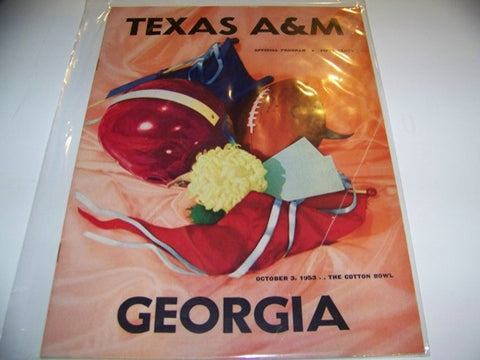 1953 Georgia Bulldogs Football Program vs. Texas A&M
