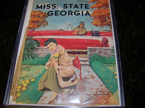 1956 Georgia Bulldogs Football Program vs. Miss. State