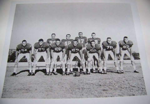 1959 SEC Champs Football Team Photo with matte