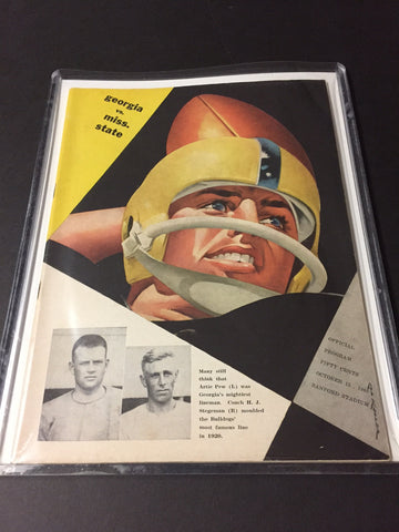 1960 Georgia Bulldogs Football Program vs. Miss State