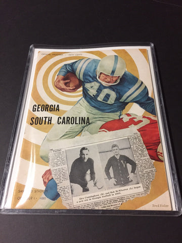 1960 Georgia Bulldogs Football Program vs. South Carolina