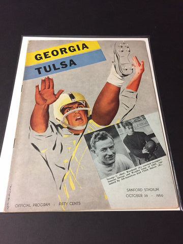 1960 Georgia Bulldogs Football Program vs. Tulsa