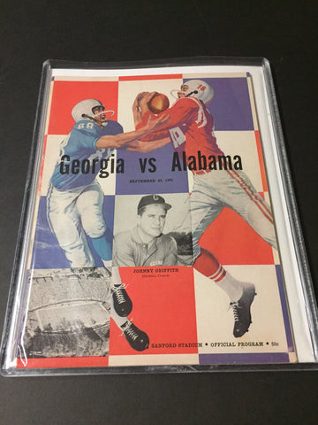 1961 Georgia Bulldogs Football Program vs. Alabama