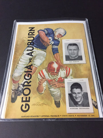 1961 Georgia Bulldogs Football Program vs. Auburn
