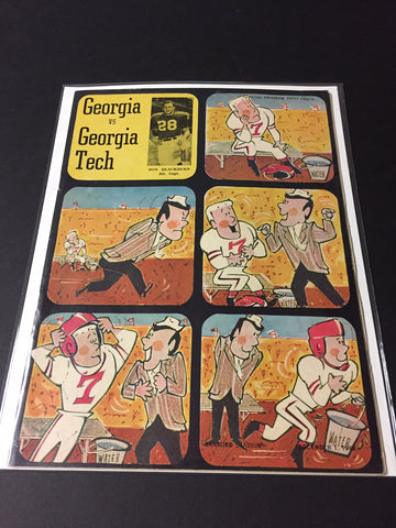 1962 Georgia Bulldogs Football Program vs. Georgia Tech
