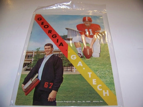 1964 Georgia Bulldogs Football Program vs. georgia tech