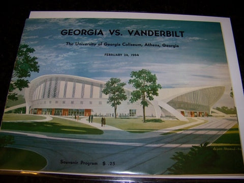 1964 Georgia Bulldogs Basketball Program vs. Vanderbilt