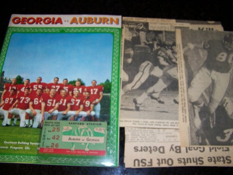 1965 Georgia Bulldogs Football Program vs. Auburn