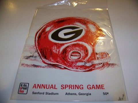 1966 Georgia Bulldogs Football Program Spring Game
