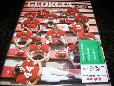1967 Georgia Football Program vs. Auburn