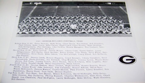 1969 Team Photo w/ Player Names with matte