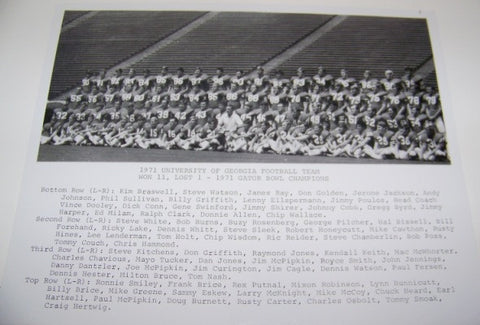 1971 Team Photo w/ Player Names with matte