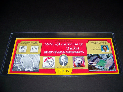 1979 50th Anniversary of Sanford Stadium ticket