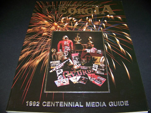 1992 Georgia Bulldog Football Media Guide