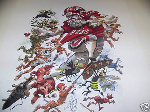 2008 Jack Davis Georgia Bulldogs Football Print