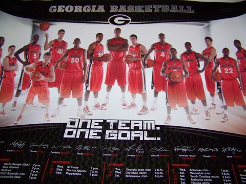 2009 Georgia Basketball Poster