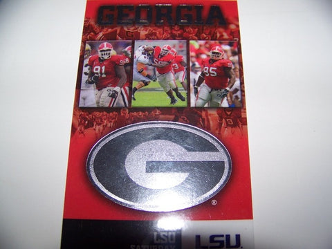 2009 Georgia vs lsu Lanyard Ticket