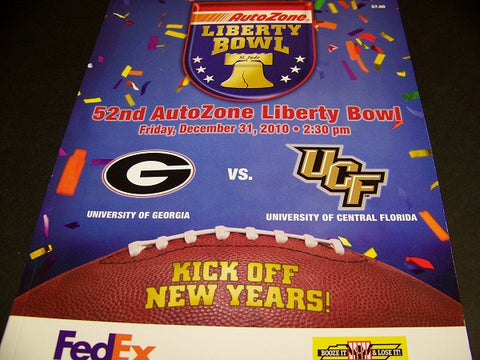 2010 Georgia Bulldog Liberty Bowl program vs. ucf