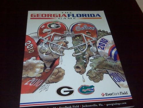 2010 Georgia Bulldogs Football Jack Davis Program (New)