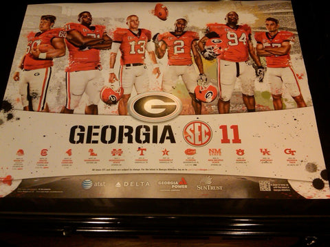 2011 Football SEC East Champs Schedule Poster Seniors
