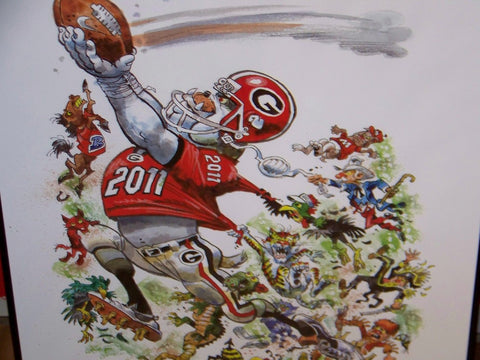 2011 Jack Davis Georgia Bulldogs Football Print
