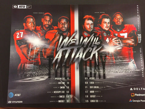 2017 Football Team Schedule Poster
