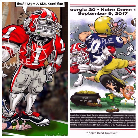 "2017 Dave Helwig ""Southern Bend"" & ""South Bend Takeover"" Notre Dame Lot"