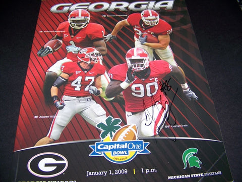 2009 AJ Green Autographed Capital One Bowl Program