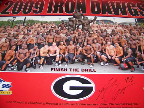 2009 AJ Green Autographed Iron Dawgs Poster